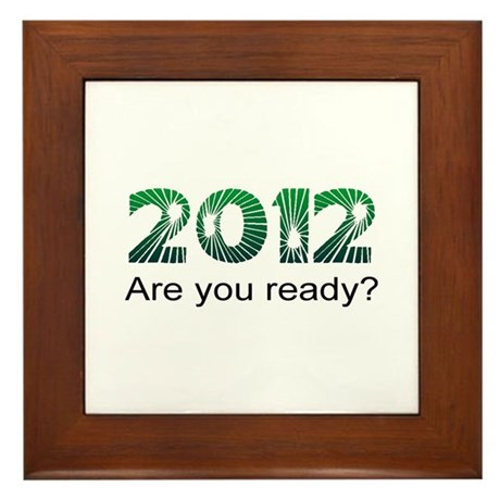 Are You Ready Framed Tile
