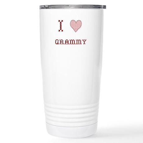 I [Heart] Grammy Stainless Steel Travel Mug