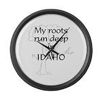 Idaho Roots Large Wall Clock