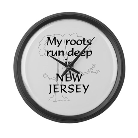New Jersey Roots Large Wall Clock