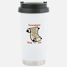 Genealogy Wish List Travel Mug