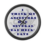 Genealogy Heirs Large Wall Clock