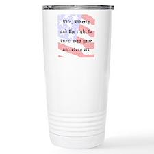 Genealogists Rights Travel Mug