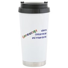 Genealogy Confusion (blue) Travel Mug