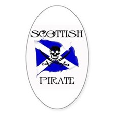 Scottish Pirate Oval Decal