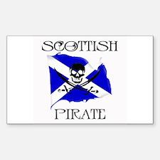 Scottish Pirate Rectangle Decal