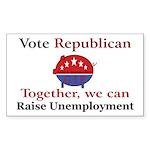 Unemployment Pig Rectangle Sticker 50 pk)