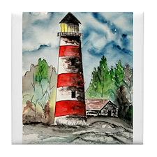 Sapelo Island Georgia red and Tile Coaster