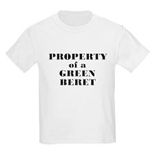 Property of a Green Beret Kids T-Shirt