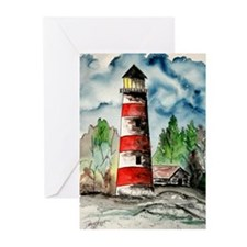 Sapelo Island Georgia red and Greeting Cards (Pk o
