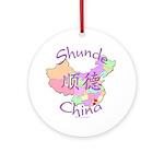 Shunde China Map Ornament (Round)