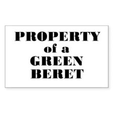 Property of a Green Beret Rectangle Decal