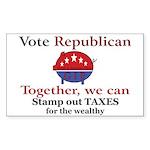 Tax Cut Pig Rectangle Sticker 10 pk)