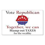 Tax Cut Pig Rectangle Sticker