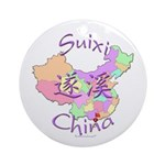 Suixi China Map Ornament (Round)