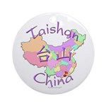 Taishan China Map Ornament (Round)