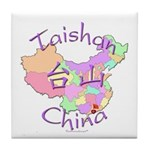 Taishan China Map Tile Coaster
