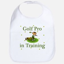 Golf Pro in Training Baby infant Toddler Bib