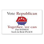 Chauvinist Pig Rectangle Sticker 50 pk)