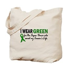 I Wear Green 2 (Cousin's Life) Tote Bag