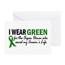 I Wear Green 2 (Cousin's Life) Greeting Card