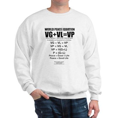 WORLD PEACE EQUATION Sweatshirt