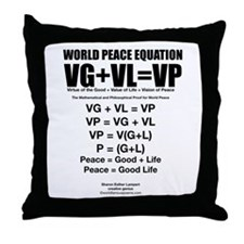 WORLD PEACE EQUATION Throw Pillow