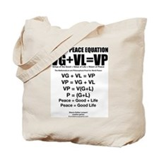 WORLD PEACE EQUATION Tote Bag