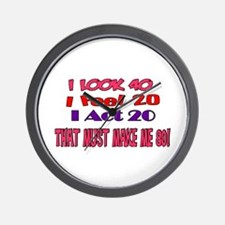 I Look 40, That Must Make Me 80! Wall Clock