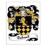 Dubreuil Family Crest Small Poster