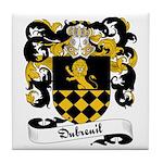 Dubreuil Family Crest Tile Coaster