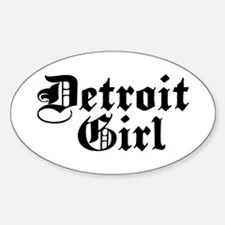 Detroit Girl Oval Decal