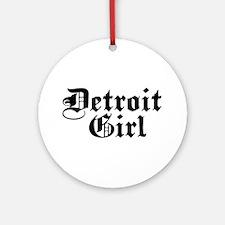 Detroit Girl Ornament (Round)