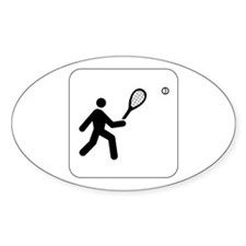 Tennis Icon Oval Decal