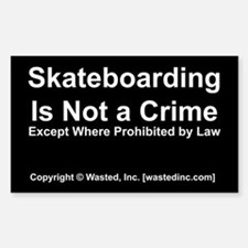 Skateboarding Rectangle Decal
