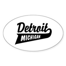 Detroit Michigan Oval Decal