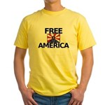 Free America Yellow T-Shirt