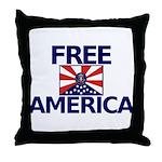 Free America Throw Pillow