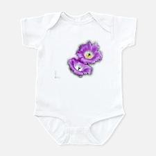 Two Purple Cactus Flowers Infant Bodysuit