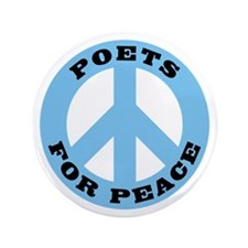 """Poets For Peace 3.5"""" Button (100 pack)"""