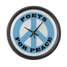 Poets For Peace Large Wall Clock