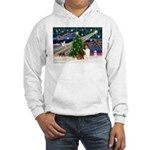 XmasMagic/Sheltie (7R) Hooded Sweatshirt