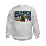 XmasMagic/Sheltie (7R) Kids Sweatshirt