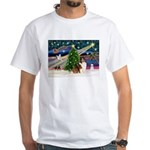XmasMagic/Sheltie (7R) White T-Shirt