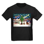 XmasMagic/3 Shelites (s) Kids Dark T-Shirt