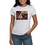 Santa's Sheltie (SW) Women's T-Shirt