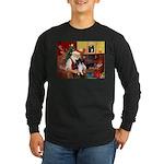 Santa's Bi Black Sheltie Long Sleeve Dark T-Shirt