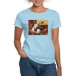 Santa's Bi Black Sheltie Women's Light T-Shirt
