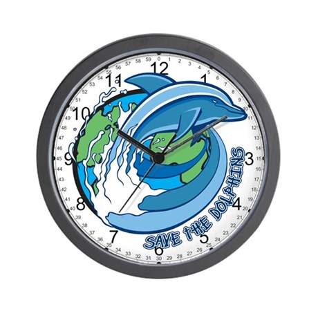 Save the Dolphins Wall Clock
