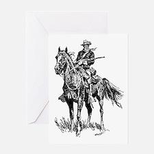 Old Bill Cavalry Mascot Greeting Card